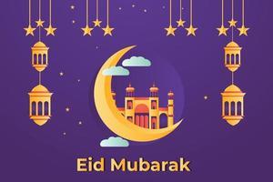 Eid Mubarak illustration Background Design vector