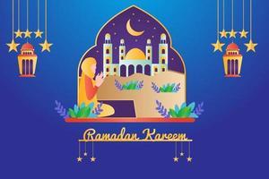 ramadan kareem banner design illustration vector