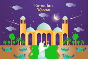 ramadan kareem banner background design illustration vector