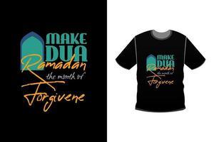Ramadan modern typography Tshirt  design vector