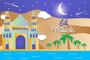 Eid Mubarak illustration vector