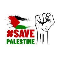 Save palestine war vector