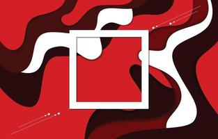 Red Abstract Fluid Background vector