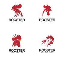 Rooster head logo vector
