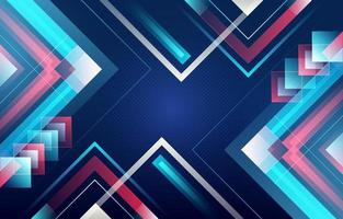 Red Blue Geometrical Background vector