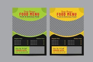 plantilla de diseño de menú de comida rápida vector