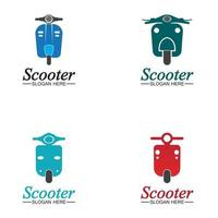 Moped scooter logo vector icon illustration