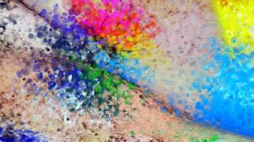 Colorful Paint Drops Falling Animated Pattern on 3D background  Multicolor Paint Drops Seamless Loop 4K Footage video