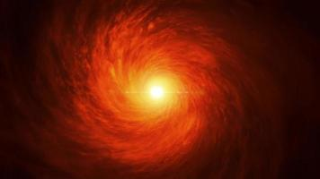 Supermassive black hole rotation Loop with twinkle stars 4K Rotating black hole Spiral Galaxy Deep Space Exploration Rotating black hole on Space Background 4K 3D abstract animation video