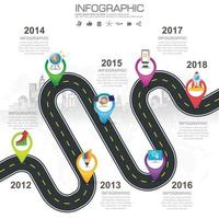 Business road map timeline infographic icons designed for abstract background template vector