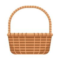 classic basket straw isolated icon vector