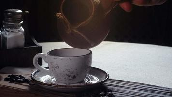 Turkish coffee in the cup traditional turkish coffee video
