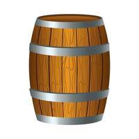 barril de cerveza de madera icono de san patricio vector