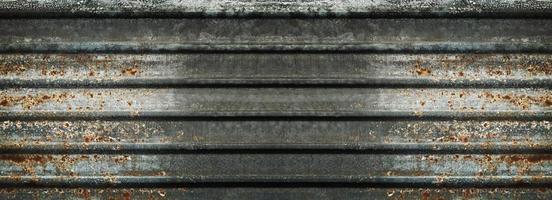 Fondo y textura de pared de zinc oxidado viejo foto
