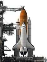 Space Shuttle isolated on white background Elements of this image furnished by NASA photo