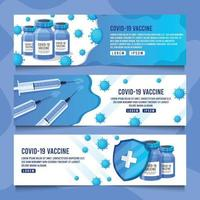 Covid19 Vaccine Banner vector