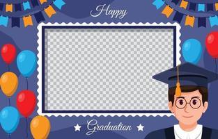 Graduation Photo Booth Frame vector