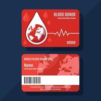 Blood Donor Card vector