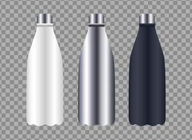 bottles products packings branding icons vector