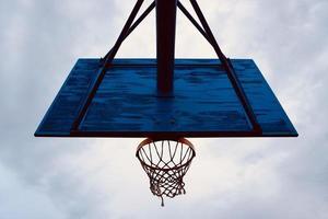 street basketball hoop silhouette photo