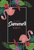 letras de fiesta de verano vector