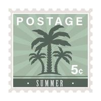 summer postage stamp vector
