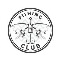 rods fishing emblem vector