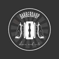 barber shop label vector