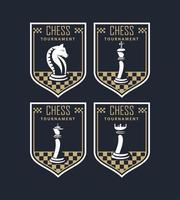 chess tournament emblems vector