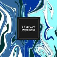 ABSTRACT BANNER WITH BLUE PAINT STREAKS vector