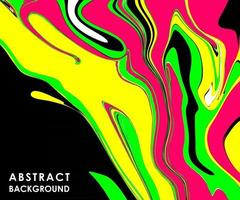 BLACK ABSTRACT BANNER WITH MULTICOLORED PAINT SPLASHES vector