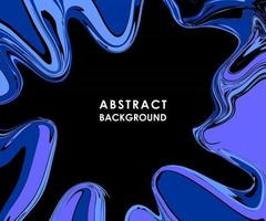 ABSTRACT BLACK POSTER WITH BLUE PAINT STREAKS vector
