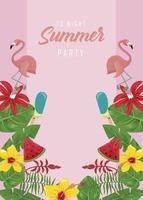 postal de fiesta de verano vector