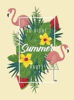 mensaje de fiesta de verano vector