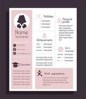 businesswoman cv template vector