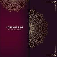 Luxury ornamental mandala background with arabic Pro Vector
