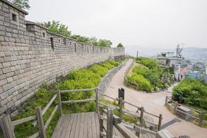 Seoul fortress on naksan mountain photo