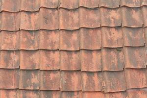 Red tile roofs photo