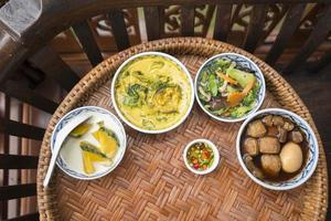 Thai food in wedding ceremony photo
