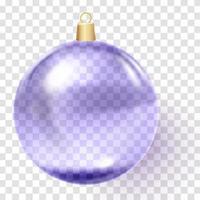 Violet Christmas ball Purple xmas glass ball vector