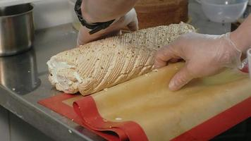 Pastry Chef Working on A Pastry Roll video