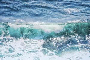 Turquoise wave in Indian ocean photo