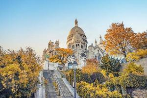 basílica del sagrado corazón en montmartre parís foto