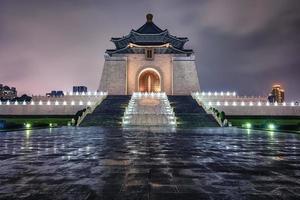 ciudad de taipei por la noche foto