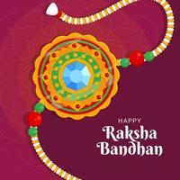 Rakhi Bracelet For Celebrate Raksha Bandhan vector