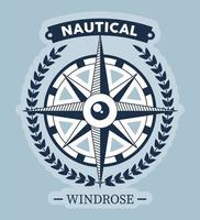 nautical windrose label vector