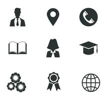 success business icons vector
