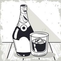 whiskey beverage drinks vector
