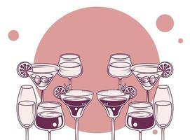 drinks cups set vector