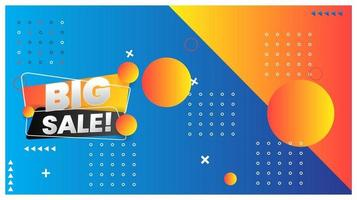 Sale banner template design and Big sale special offer vector